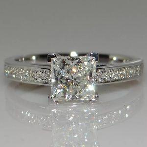 925 silver Princess Cut 1ct Ring